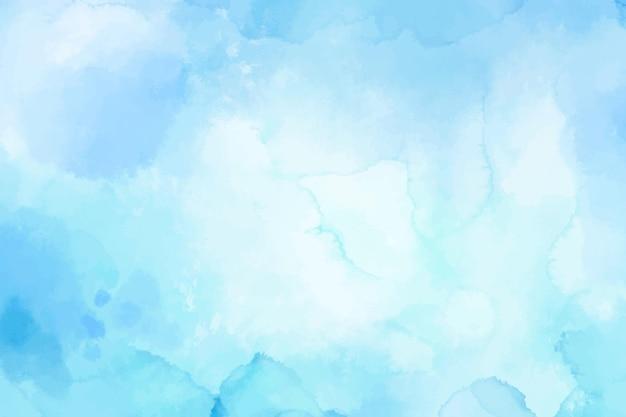 Fundo aquarela com manchas azuis claras