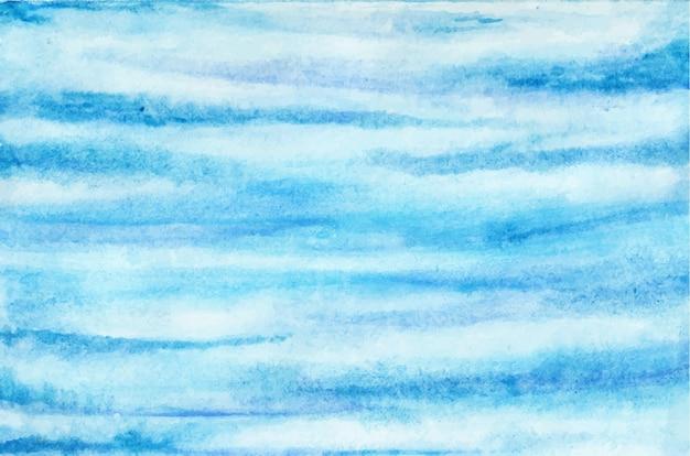 Fundo aquarela da nuvem do céu