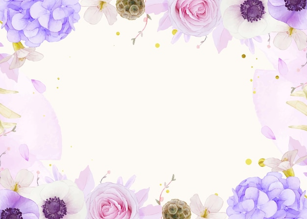 Fundo aquarela de rosas cor de rosa