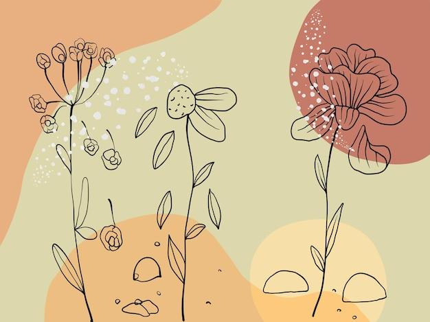 Fundo aquarela desenhado à mão com linha de doodle
