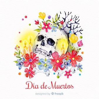 Fundo aquarela dia de muertos