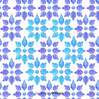 Fundo aquarela em design de mosaico