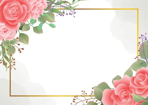 Fundo aquarela flor rosa