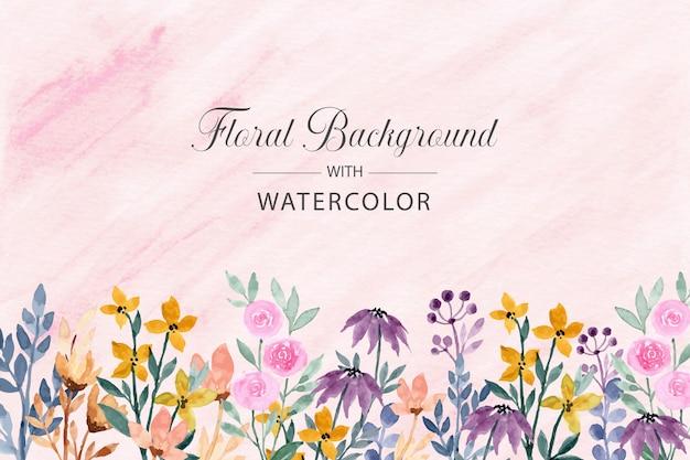 Fundo aquarela floral colorido