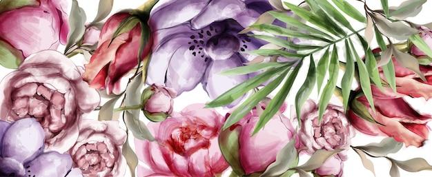 Fundo aquarela floral