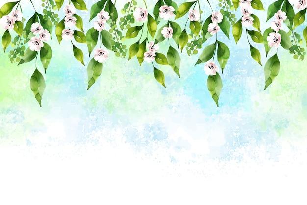 Fundo aquarela linda primavera