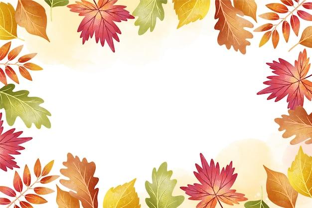 Fundo aquarela outono