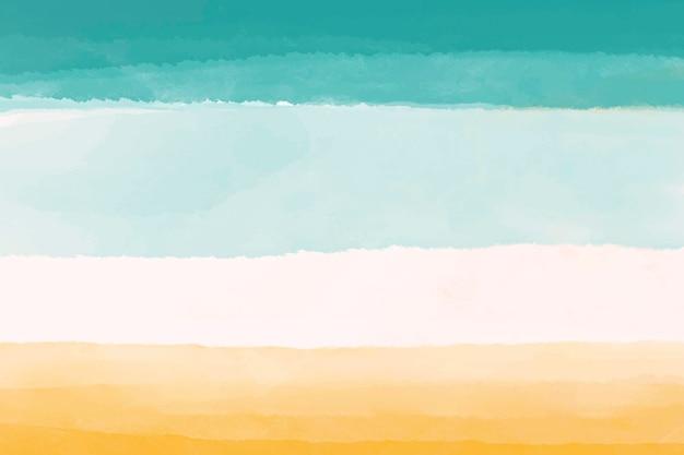 Fundo aquarela, papel de parede amarelo, desenho abstrato azul vetor