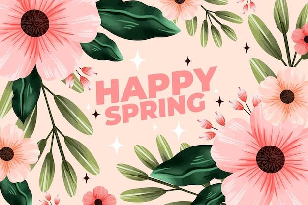 Fundo aquarela primavera