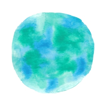 Fundo aquarela redondo azul e verde