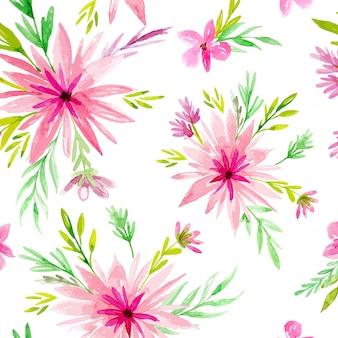 Fundo aquarela rosa daisy