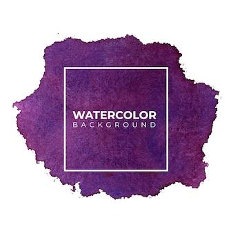 Fundo aquarela roxo abstrato escuro, pintura de mão. cor espirrando no papel.
