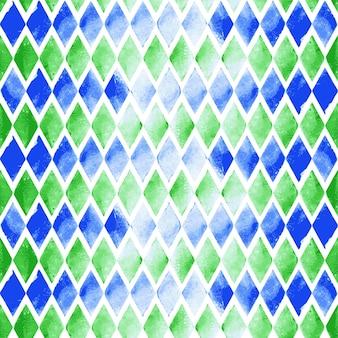 Fundo aquarela sem emenda do triângulo do vetor. o padrão uniforme nas costas está completo. composição abstrata de aquarela desenhada à mão para elementos de álbum de recortes