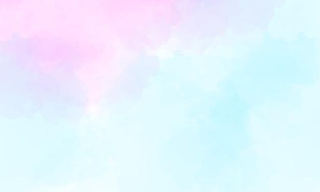 Fundo aquarela suave em azul e rosa