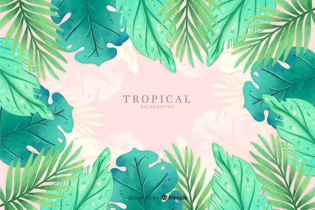 Fundo aquarela tropical