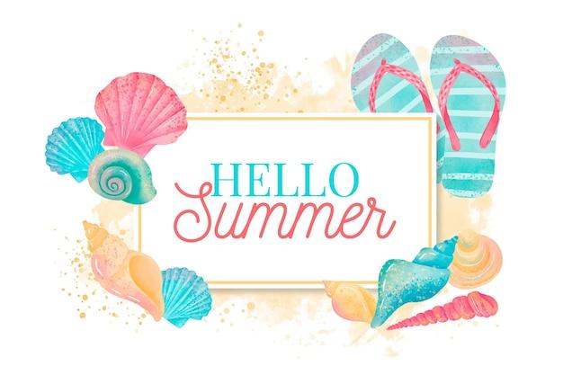 Fundo aquarela verão