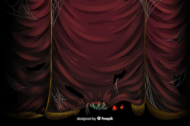 Fundo assustador de cortina de halloween