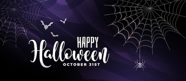 Fundo assustador de halloween com morcegos e teia de aranha