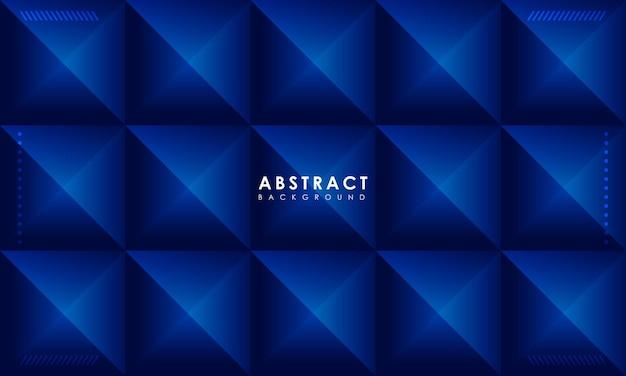 Fundo azul abstrato com efeito de polígono