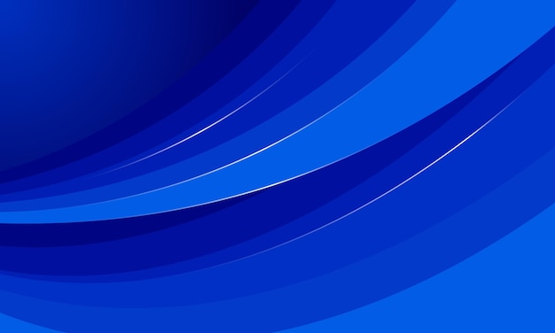 Fundo azul abstrato da forma da curva. ilustração vetorial.