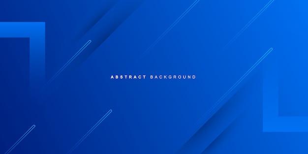 Fundo azul abstrato dinâmico moderno