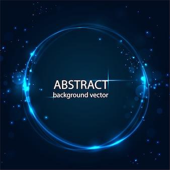 Fundo azul abstrato do efeito da luz do movimento do vetor. para negócios, ciência, design de tecnologia.