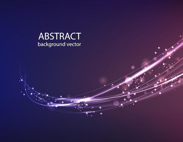 Fundo azul abstrato do efeito da luz do movimento do vetor.