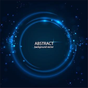 Fundo azul abstrato do efeito da luz do movimento.