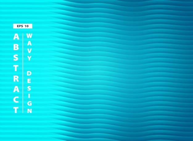 Fundo azul abstrato do projeto do teste padrão ondulado do mar do aqua.