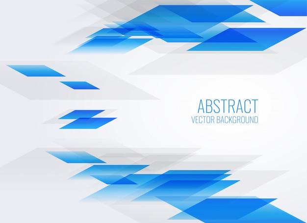 Fundo azul abstrato estilo geométrico