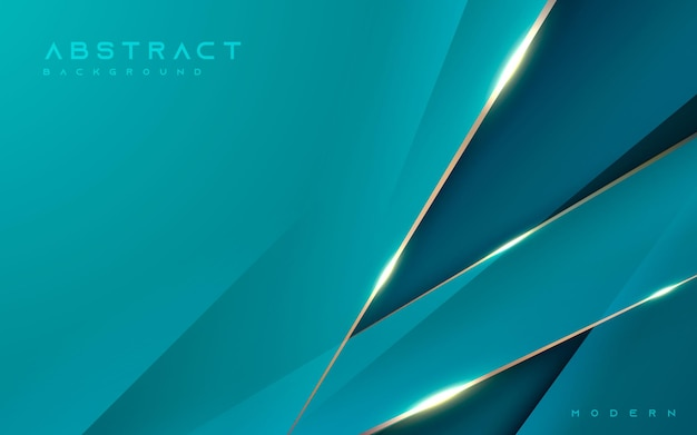 Fundo azul abstrato luxuoso com efeito de linha dourada diagonal