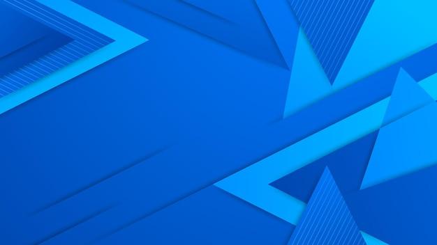 Fundo azul abstrato moderno com elemento de círculo colorido e ilustração de efeito brilhante