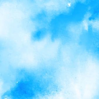 Fundo azul aquarela abstrata