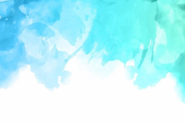 Fundo azul aquarela pintado à mão