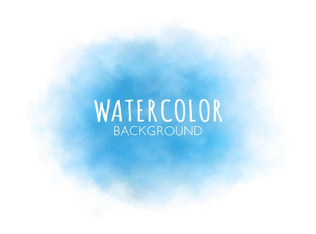 Fundo azul aquarela vector