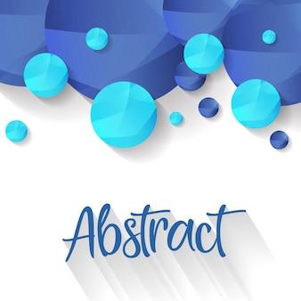 Fundo azul bolha abstrata