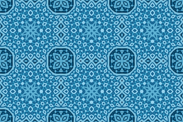 Fundo azul bonito da web com padrão geométrico abstrato sem emenda