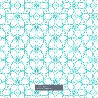 Fundo azul bonito padrão de estilo floral