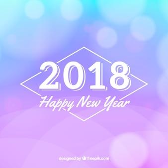 Fundo azul borrado e ano novo lilás
