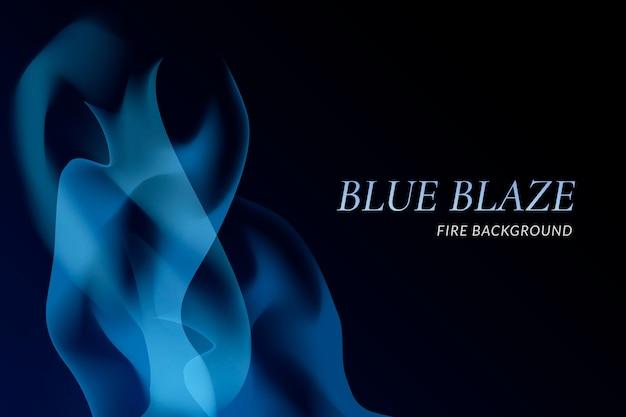 Fundo azul chama