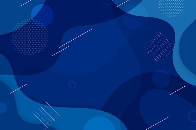 Fundo azul clássico criativo