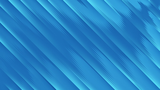 Fundo azul com linhas diagonais escuras claras e pontos de meio-tom.