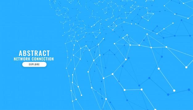 Fundo azul com linhas e pontos de conexão
