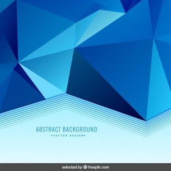 Fundo azul com listras poligonal