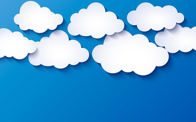 Fundo azul com nuvens
