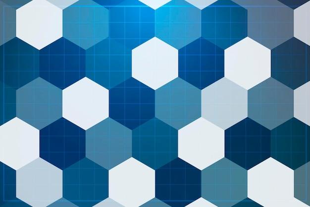 Fundo azul com padrão hexágono