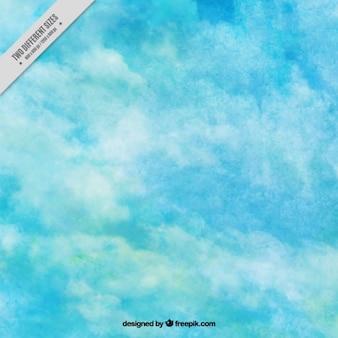 Fundo azul com textura da aguarela