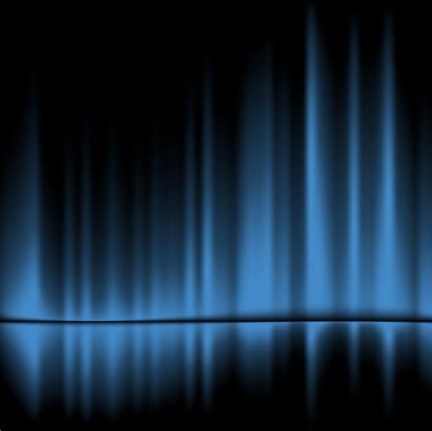 Fundo azul cortinas