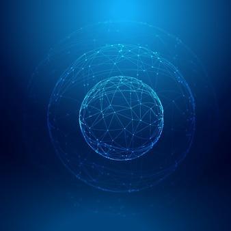Fundo azul da esfera