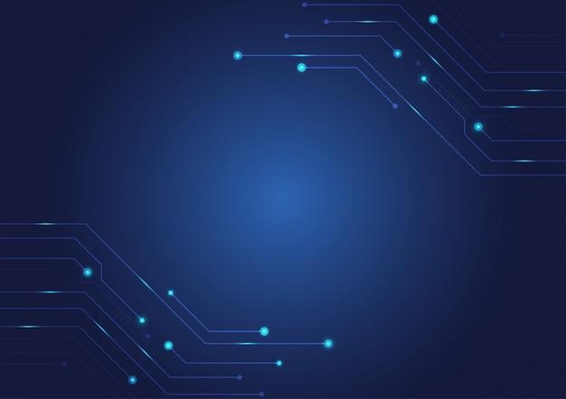 Fundo azul da placa de circuito.
